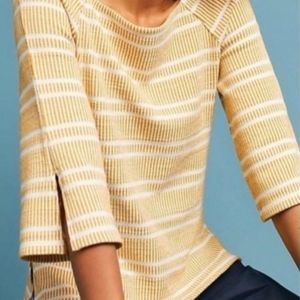 Anthropologie Postcards Striped Boatneck Knit Tee